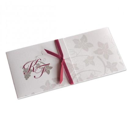 Wedding invitation red wine