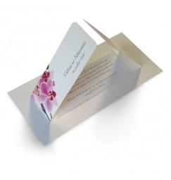 Faire part mariage orchidée rose wrap