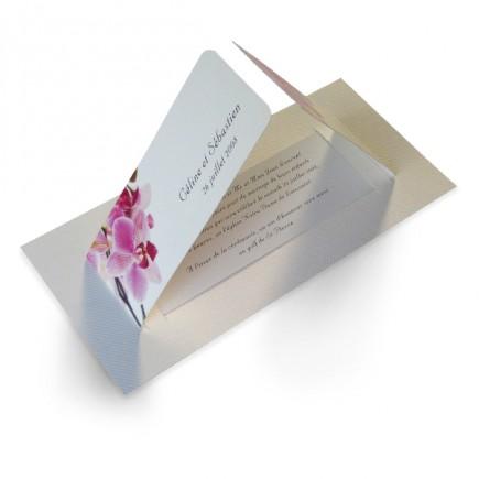 Faire part de mariage orchidee