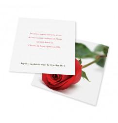 Dinner card rose rayon
