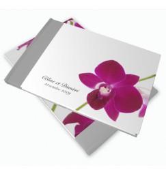 Livre d'or mariage orchidée wrap