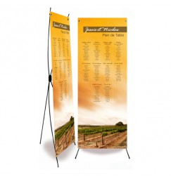Table plan banner wine wrap