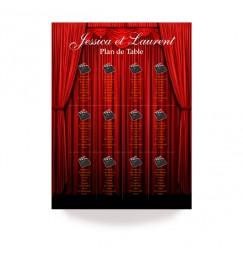Plan de table opening curtain
