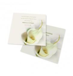 Carton d'invitation calla lily
