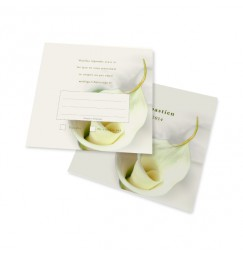 RSVP card calla lily