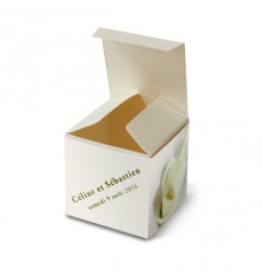 Wedding favor box calla lily