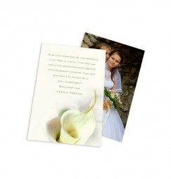 Classic thank you card calla lily