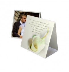 Thank you card pyramid calla lily