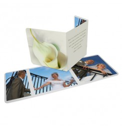 Thank you card triptique calla lily