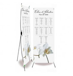 Table plan banner corset orchid