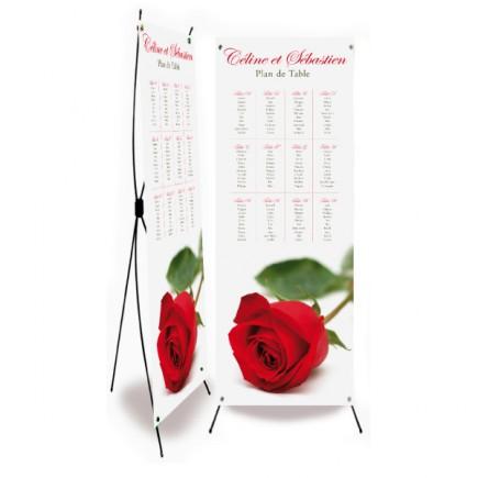 Plan de table mariage rose rayon