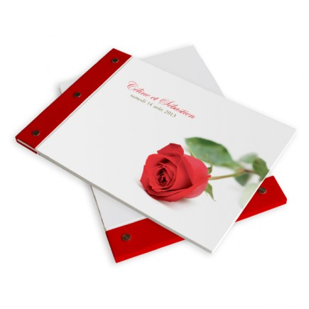 Livre d'or mariage rose rayon