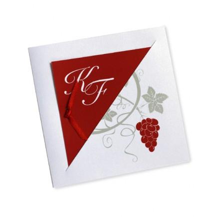 Faire part mariage vigne avorio