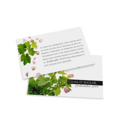 Dinner card petals and vines