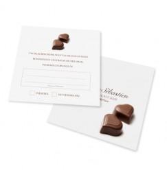 Carton réponse chocolat BF