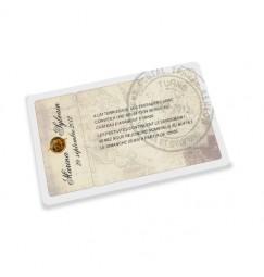 Carton d'invitation billet de voyage