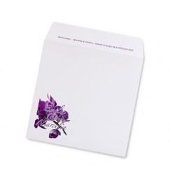 Wedding envelope purple orchid avorio