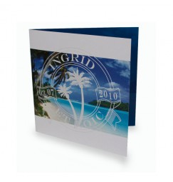 Wedding invitation beach