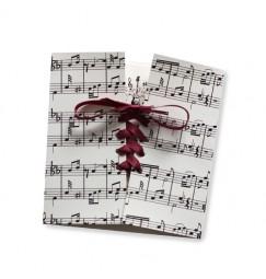 Wedding invitation music corset