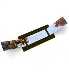 Wedding invitation spice wrap