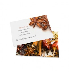 Carton d'invitation epice wrap