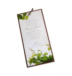 Wedding invitation vine