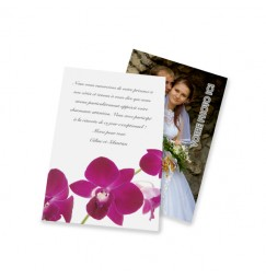 Classic thank you card orchid wrap