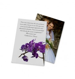 Classic thank you card purple orchid wrap