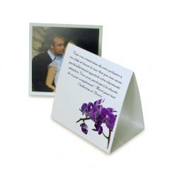 Remerciement pyramide orchidée violette wrap