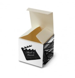 Wedding favor box cinema corset