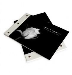 Livre d'or mariage rose noir et blanc
