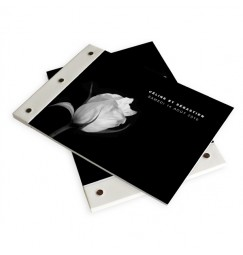 Wedding book black and white rose