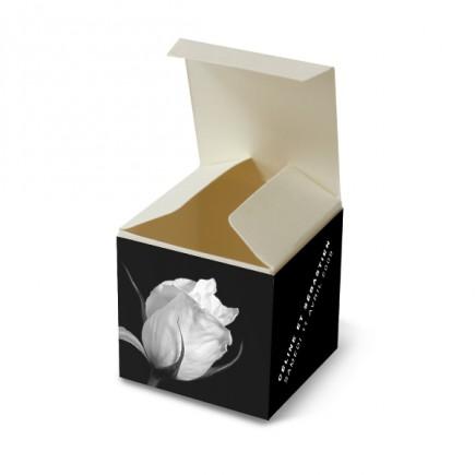 Boite de dragée rose noir et blanc