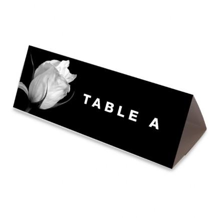 Nom table rose noir et blanc