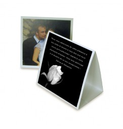 Thank you card pyramid black and white rose