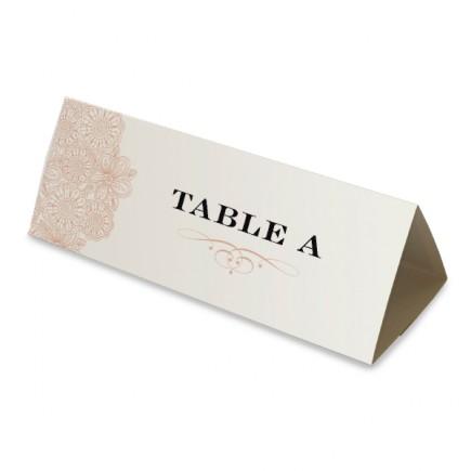 Nom table vintage triptyque