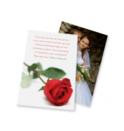 Classic thank you card rose rayon