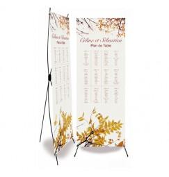 Plan de table mariage automne