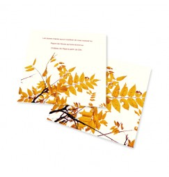 Dinner card autumn