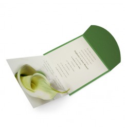 Wedding invitation calla lily