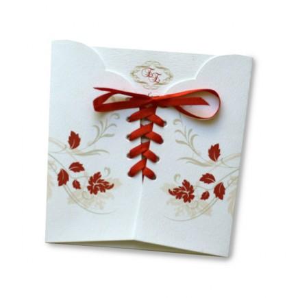 Wedding invitation corset diecut