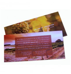 Wedding invitation vineyard
