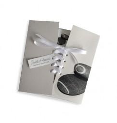 Wedding invitation corset stones