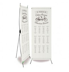 Plan de table mariage vintage vélo