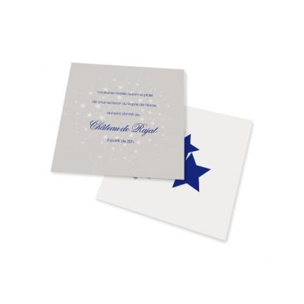 Carton d'invitation les etoiles