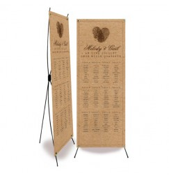 Table plan banner vintage photo machine