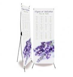Plan de table mariage lavande wrap