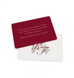 Carton d'invitation vin rouge