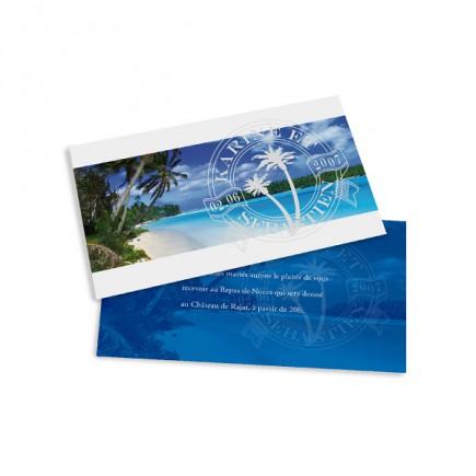 Dinner card caribbean beach