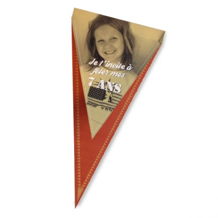 Birthday invitation flag